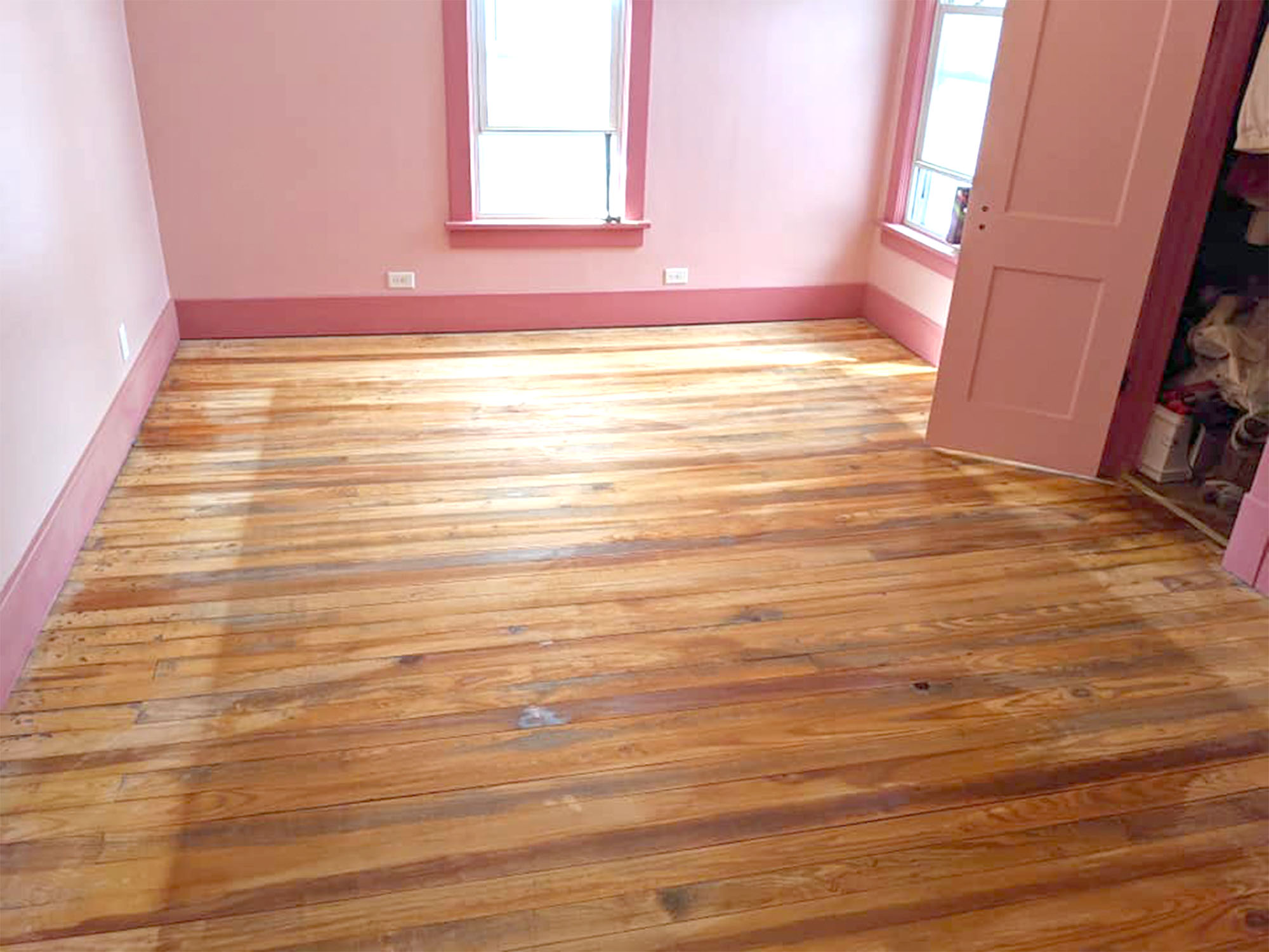 Hardwood floor restore step 2