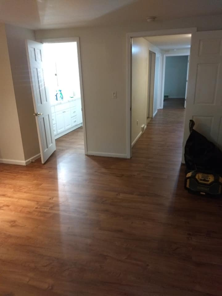 Laminate flooring finished